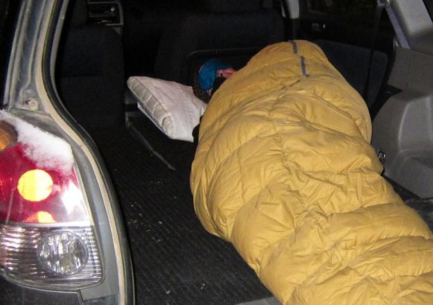 Car camping at Walmart