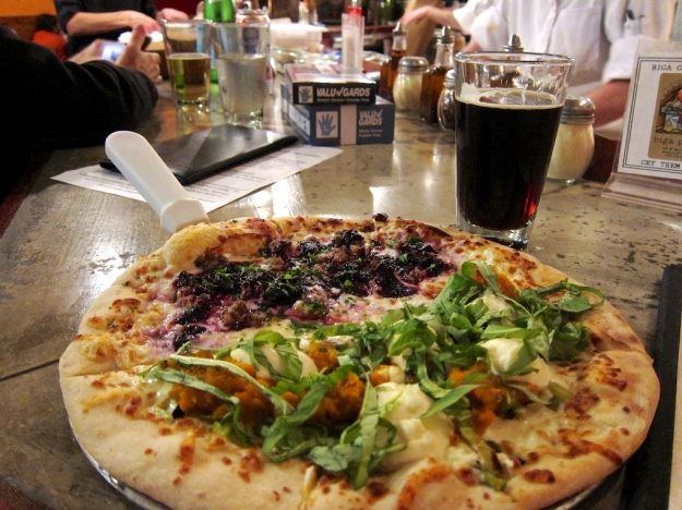 Outstanding pizza and Kettlehouse brew at Biga Pizza, Missoula, Montana