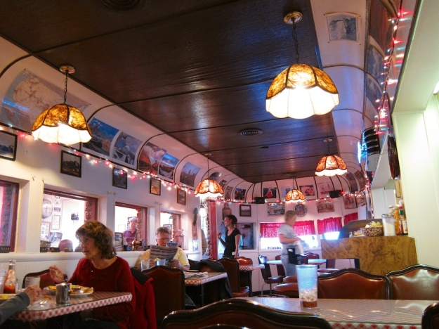The Luxury Diner, in Cheyenne Wyoming, serves excellent meals in a charming old trolley car.