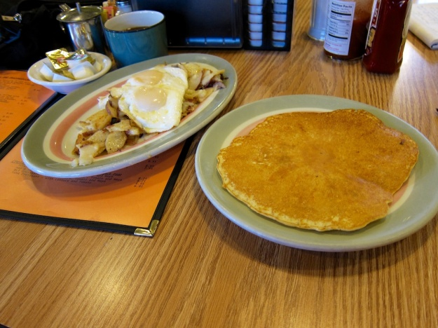 Forget the pancake. Check out the fabulous spuds at the Black Bear Cafe in Thermopolis, Wyoming