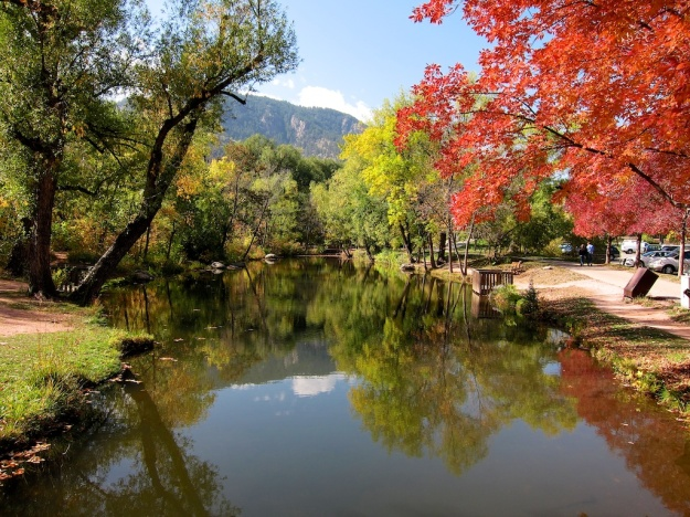 Boulder Creek is a lovely place for a walk or run through Boulder