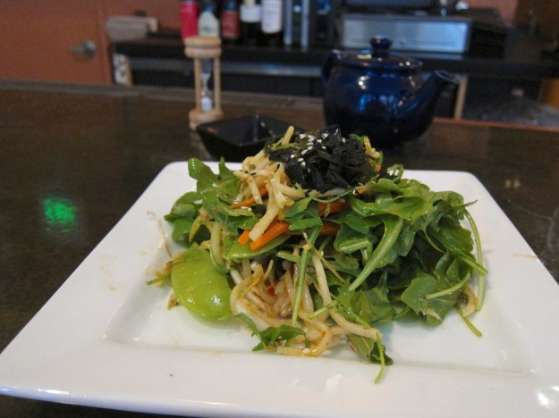 Fabulous Asian Mizuna Salad at Leaf Vegetarian Restaurant, Boulder
