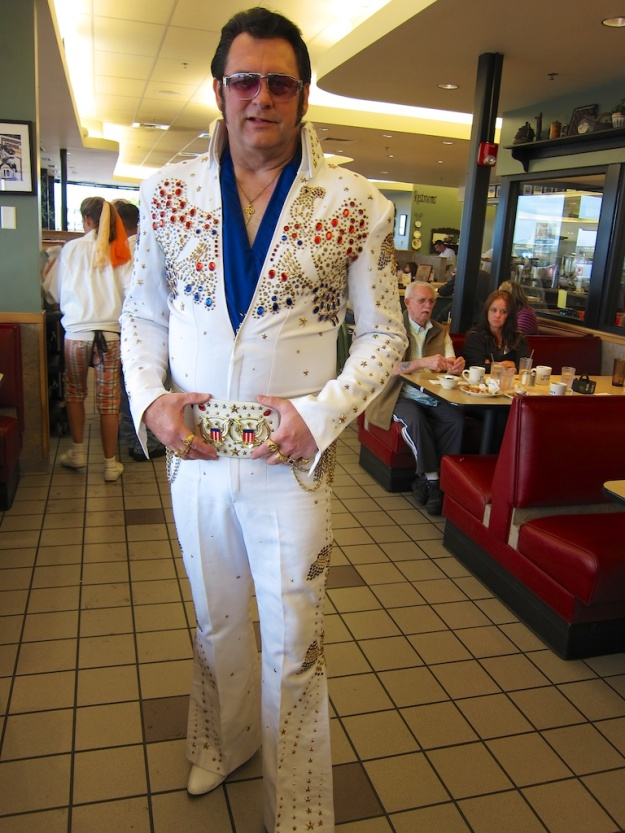 Elvis lives... as a greeter at Johnson's Corner