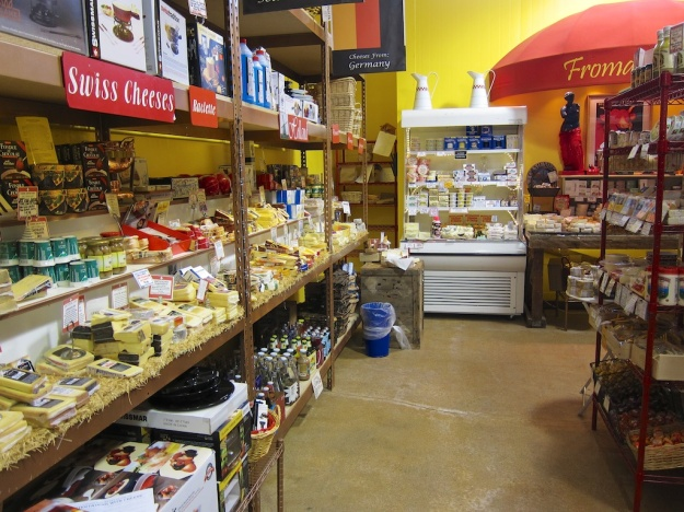 Stay warm in a quilted jacket while perusing thousands of cheeses at Cheese Importers in Longmont