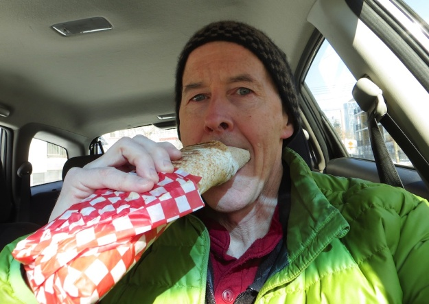 I have to devour this delicious KOOB sandwich in my car