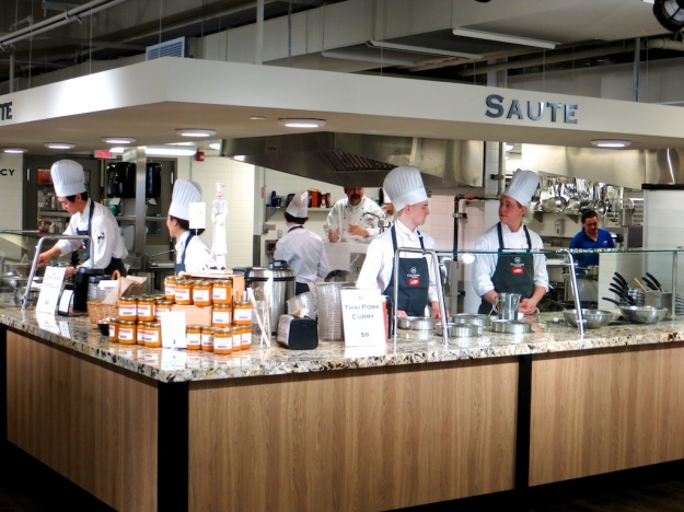 A ceremony of white hats at the SAIT Culinary Campus in downtown Calgary