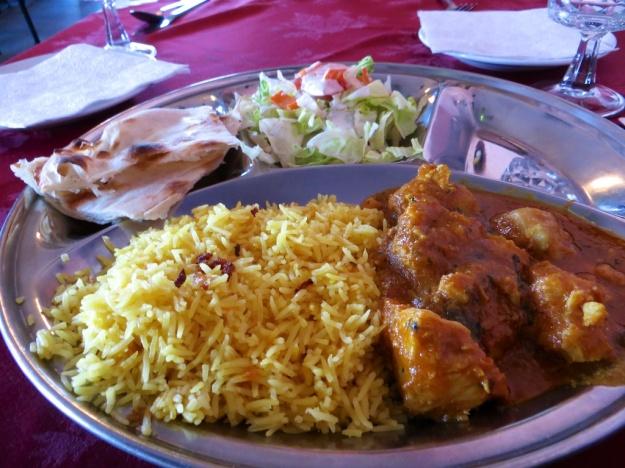 Good Bengali thali at Puspa Restaurant in Calgary