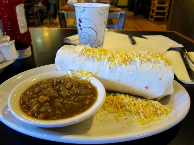The locally roasted Colorado green chili makes this breakfast burrito at King's Chef Diner