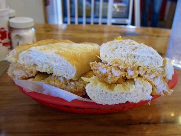 Catfish po boy at The Lost Cajun in Frisco