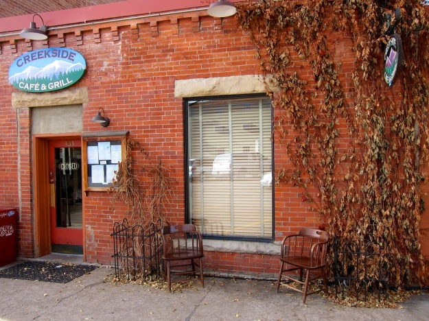 This lovely old brick building is home to Creekside Cafe & Grill