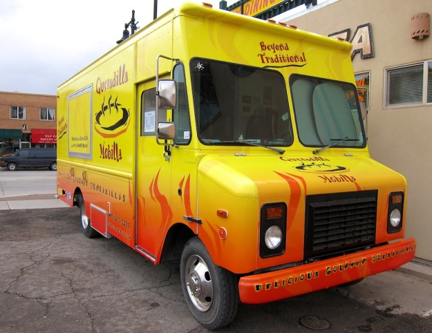 The Quesadilla Mobilla (mostly stationary) food truck in Moab, Utah