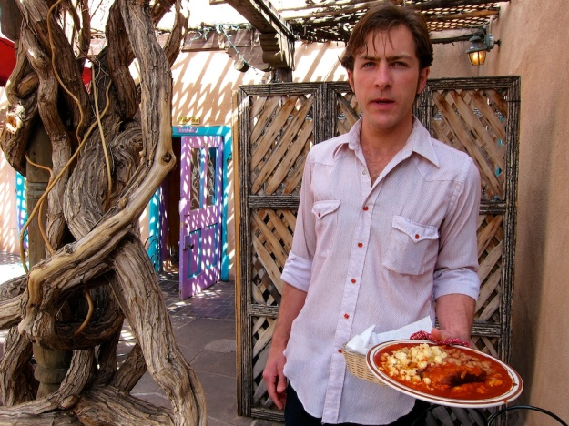 Rick serves some great red-chile enchiladas at The Shed in Santa Fe, New Mexico