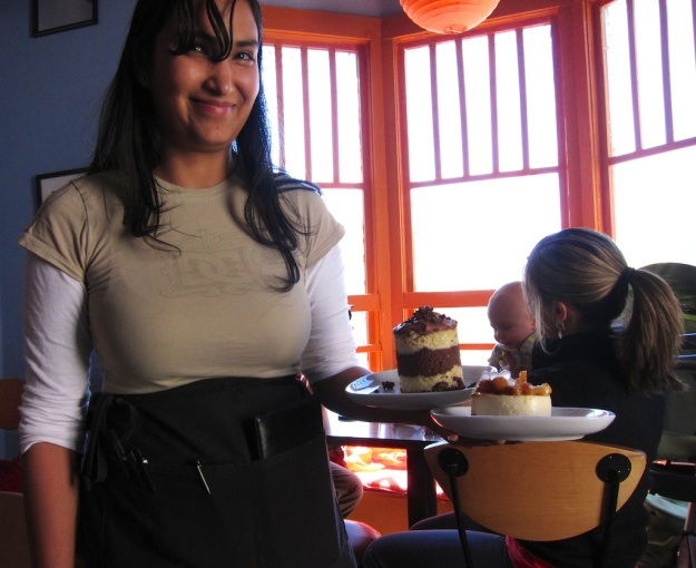 Decadent desserts at the destination Curious Kumquat in Silver City, New Mexico