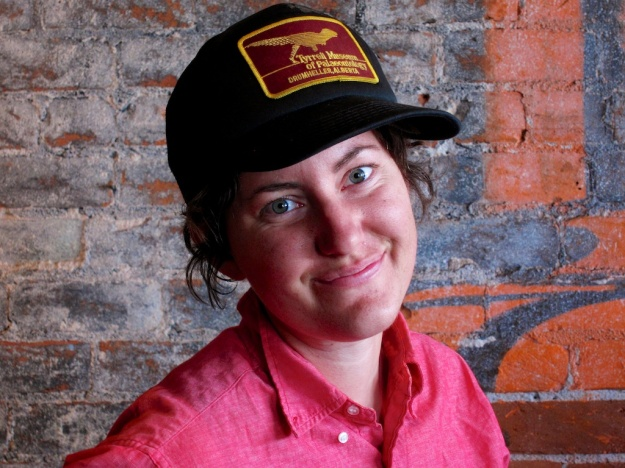 Two Canadian connections at EXO Roast in Tucson: barista Kate is from Saskatchewan and sports an Alberta-based ball cap