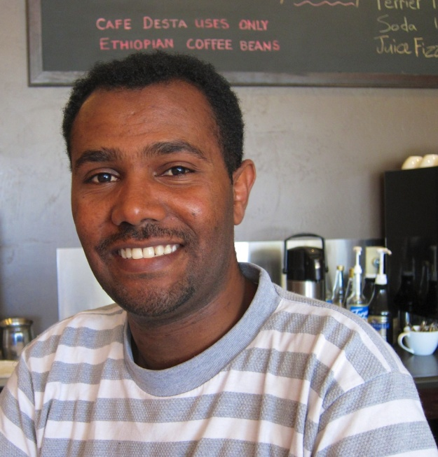Telahoun Molla, co-owner of the terrific Cafe Desta Ethiopian restaurant in Tucson