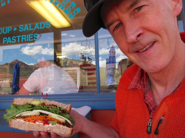 Honking big, glorious sandwiches at Sedona Memories Bakery & Cafe in Sedona, Arizona
