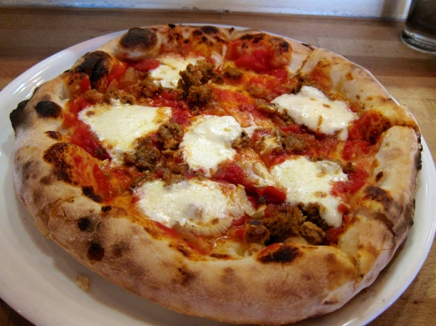 This pie from Pizzeria Seven Twelve has it all: hand-pulled mozza, house-made sausage and sourdough crust