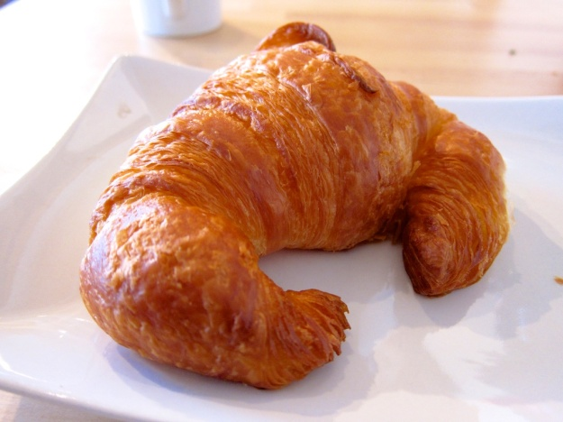 The perfect flaky, buttery croissant at Le Fournil Bakery