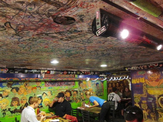The atmosphere rivals the Buddah pizza at The Sink in Boulder