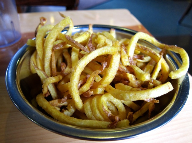Laurel potatoes in a shoestring cut at Boise Fry Company. Yum