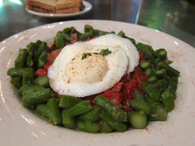 Lovely Andalusian eggs at Goldy's Breakfast Bistro in Boise
