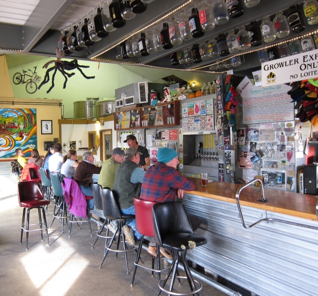 Funky taproom at KettleHouse Brewing Company in Missoula