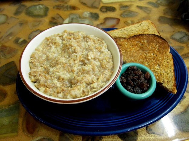 Healthy grain porridge at Woods Bay Grill near Bigfork, Montana