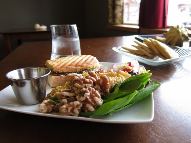 Fabulous BLT panini and salad at The Palette Cafe in Columbia Falls