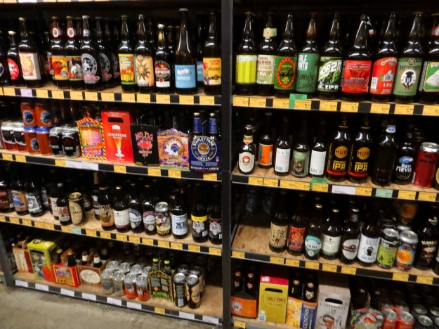 Just a small sample of the beers on offer at Sherbrooke Liquor Store