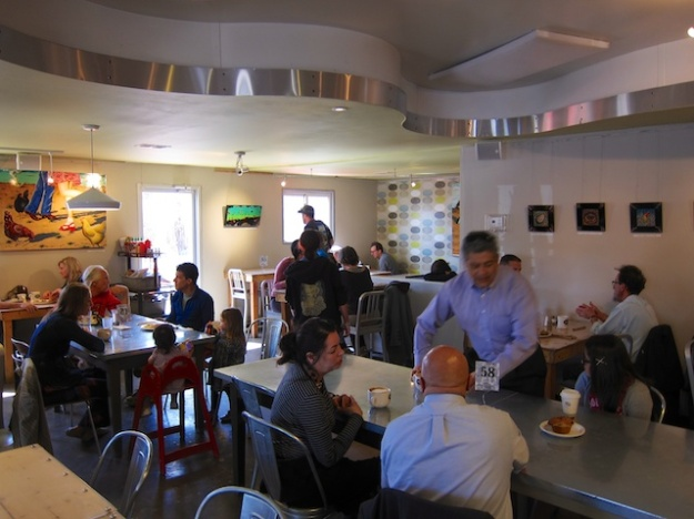 The Counter Culture Cafe has a cozy, retro feel along with a fine, eclectic menu