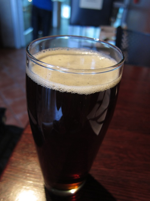 Now, this is what I call a pint: 21.5 ounces of liquid amber at Marble Brewery Taproom