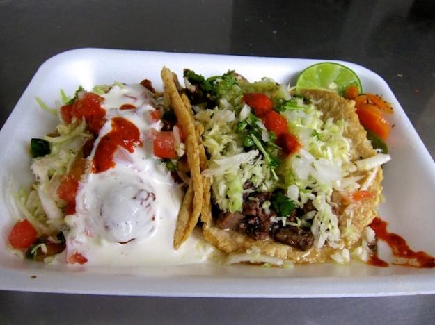 ... like these fish and lengua (tongue) tacos