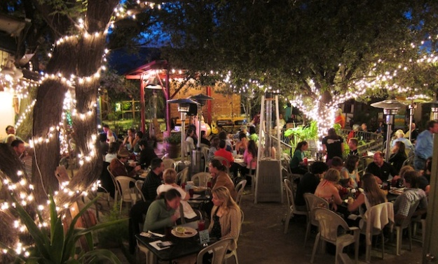 What could be nicer than hanging out in La Cocina Restaurant and Cantina's garden on a warm spring evening?