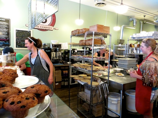 Mary Jo Beirnes (left) runs the bustling Shuswap Pie Company in Salmon Arm, B.C.