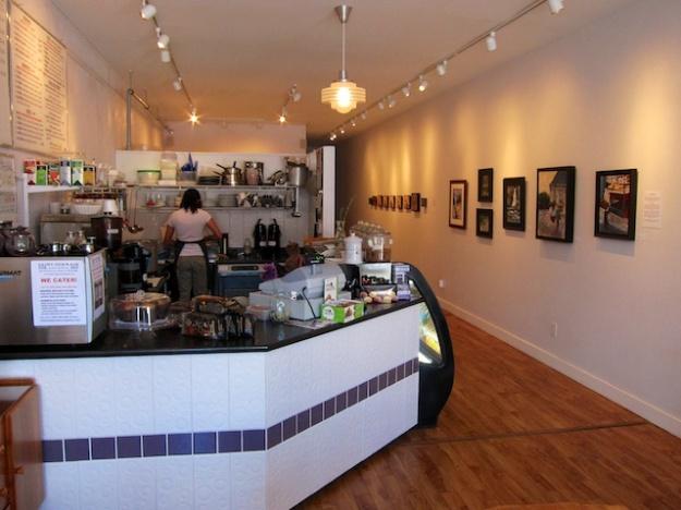 Saint-Germain Cafe doubles as an art gallery