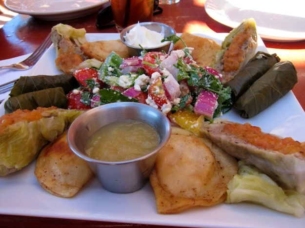 A fabulous Mediterranean plate at the Museum Hill Cafe