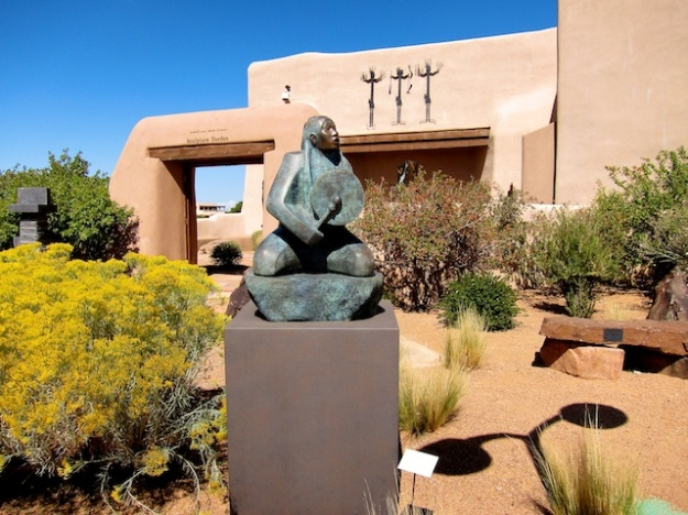 Fabulous art, plaza and views at Museum Hill overlooking Santa Fe