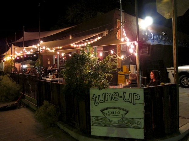The Tune-Up Cafe is a character place matched by some fine El Salvadoran-influenced food