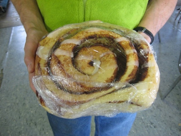 Everything's bigger in the Yukon, including these cinnamon buns at Braeburn Lodge