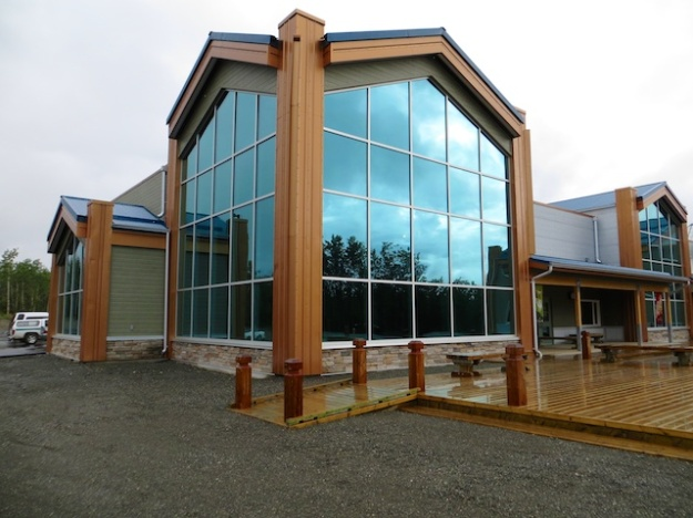 The spectacular new Da Ku Cultural Centre in Haines Junction houses the Kluane National Park Visitor Centre