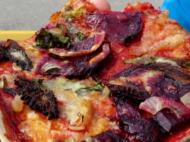How about a delectable slice of beet and onion pizza at Alpine Bakery