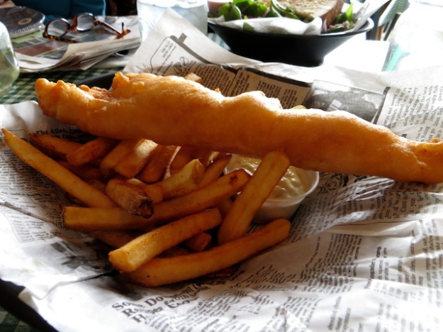The halibut and chips is bursting with fresh-caught flavour