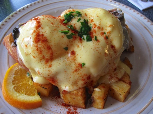 Nothing spells brunch like eggs Benedict