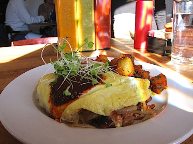 My best 2013 breakfast is the locovore omelette at lovely Chow in Bend, Oregon