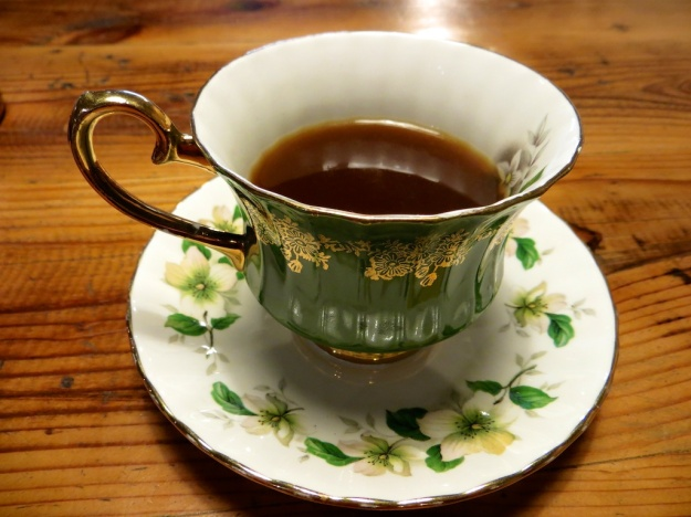 Java Jamboree hits all the right touches, like this gorgeous china cup and saucer