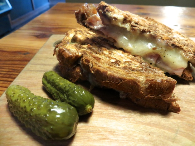 Java Jamboree features four grilled cheese sandwiches, including this one with aged cheddar and prosciutto