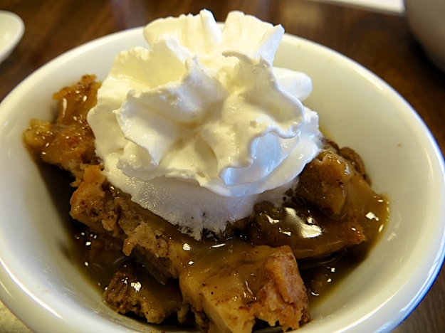 You've got to try the cinnamon-raisin bread pudding, from an old family recipe