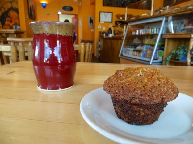 Good muffins and cinnamon buns at Cinnamon Bear Bakery & Cafe in Coleman