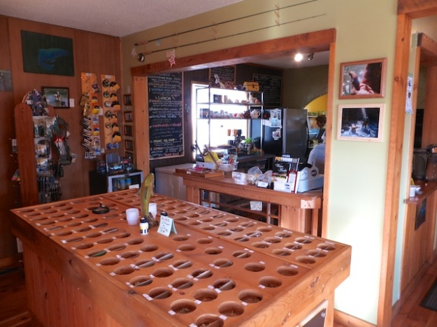 Pick up some tied flies at lunch at Crowsnest Cafe & Fly Shop
