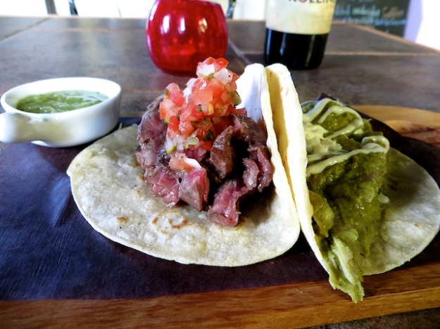 How about some chicken and flank steak tacos?